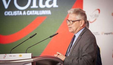 Rubèn Peris, president i director de la Volta a Catalunya, durant la presentació de la 99 edició.