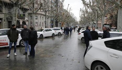 Taxistes van protestar la setmana passada per regular els VTC.