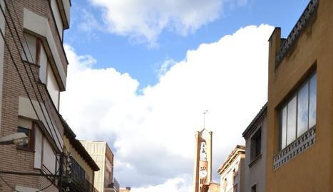 Imatge de les obres del carrer Bisbe Bernaus.