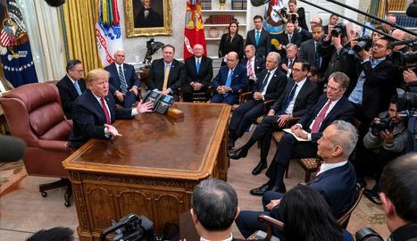 El president dels EUA, Donald Trump, ahir a la Casa Blanca.