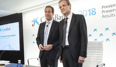 G. Gortázar i Jordi Gual van explicar el balanç de CaixaBank.