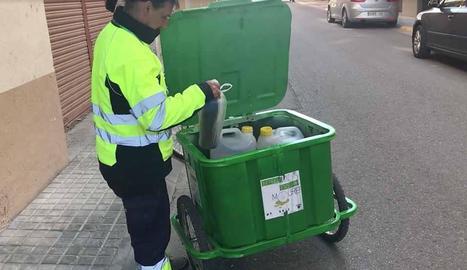 El servei de recollida d'oli domèstic es va estrenar el 2017.