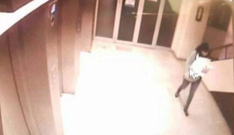 Imatge de les càmeres de seguretat de l'hospital de Guadalajara.