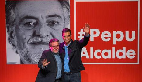 Sánchez i Hernández, ahir a la presentació de les primàries.