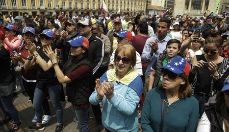 Imatge d'una de les marxes opositores celebrades dissabte als carrers de Caracas.