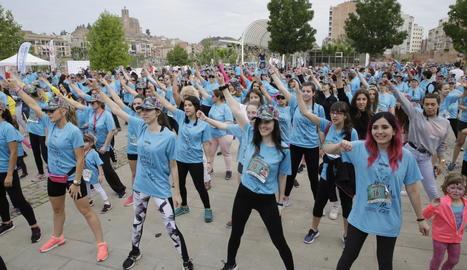 Imatge d'arxiu d'una festa contra el càncer infantil a Balaguer.