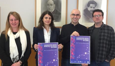 Presentació ahir de la Setmana Cultural del Conservatori de Lleida.