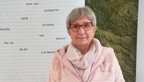 Divina Fontova, ahir durant la presentació de l'exposició.