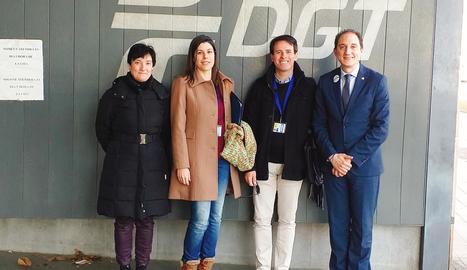 Crespín va donar la benvinguda als dos nous examinadors a Lleida.