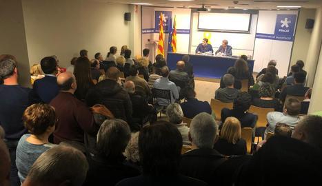 La reunió amb Bonvehí i Bel que es va celebrar ahir a Lleida.