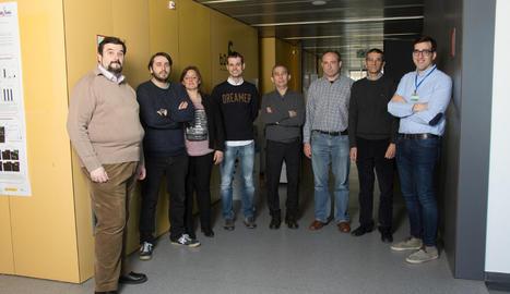 Foto de família dels metges lleidatans que han participat a l'estudi.