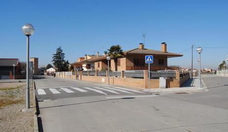 El carrer de l'Àngel a Fondarella.