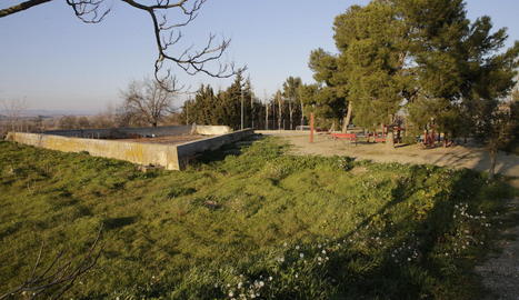Imatge del lloc on preveuen construir les piscines.