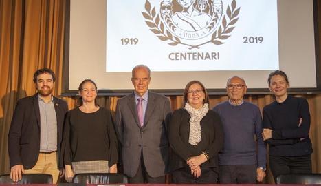 Presentació ahir del programa d'activitats del centenari de la Societat Ateneu de Tàrrega.