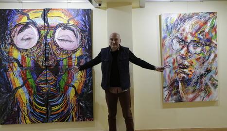 El madrileny Fincias va presentar ahir les seues obres a Lleida.