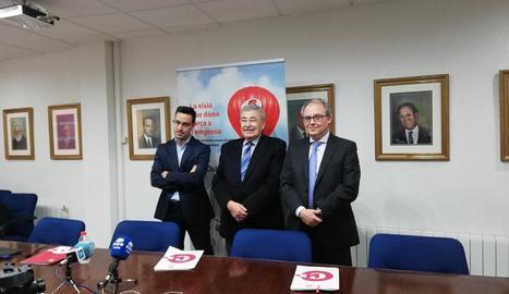 El president de Cambra de Comerç de Lleida, Joan Simó, a la presentació de la balança comercial, ahir.