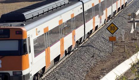 Un tren de la línia de Manresa.