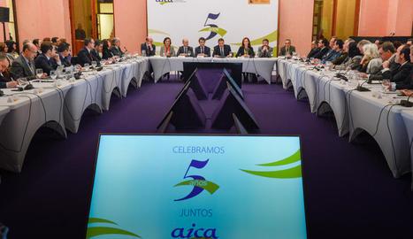 Imatge de la presentació del balanç d'activitat de l'AICA.