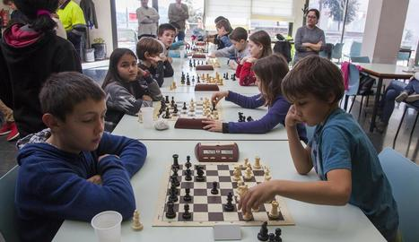 Torneig escolar d'escacs a la festa major de Cervera