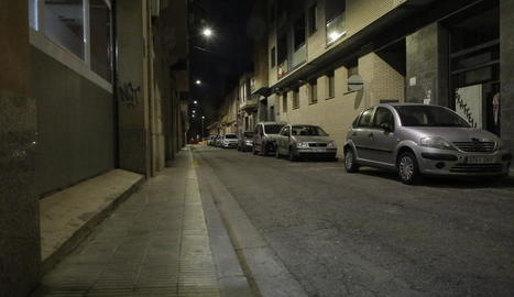 Imatge del tram del carrer Girona a Pardinyes.
