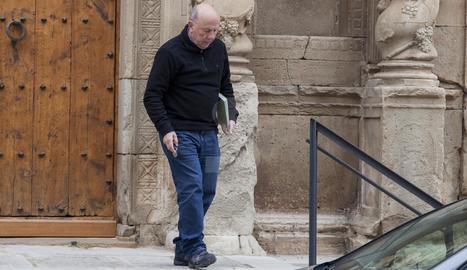 Josep Maria Font, la semana pasada en Sant Martí de Maldà.