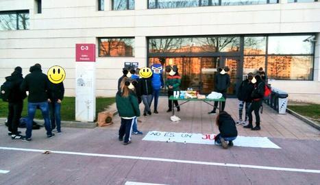 Protesta al campus de Cappont