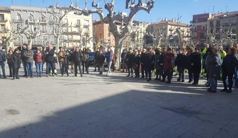 Concentració en motiu del judici de l'1-O a Balaguer