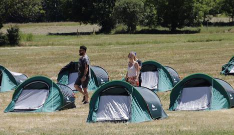 Les tendes de campanya que es van instal·lar a Escalarre el 2017.