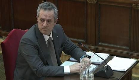 Joaquim Forn, en un moment de la seua declaració a Suprem.