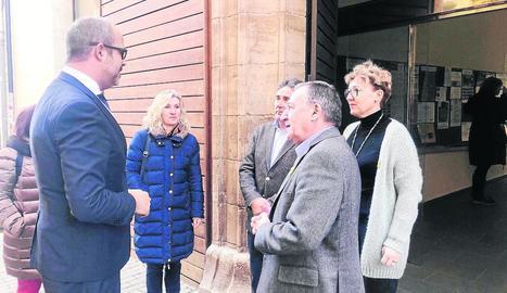 Reunió ahir amb el conseller Buch al Pallars Jussà.