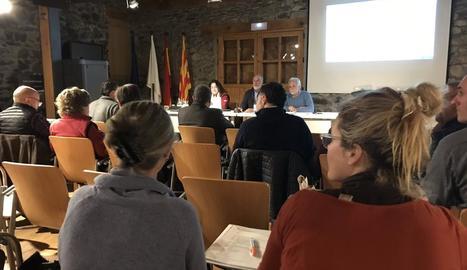 Imatge de la reunió del Patronat d'Aigüestortes.
