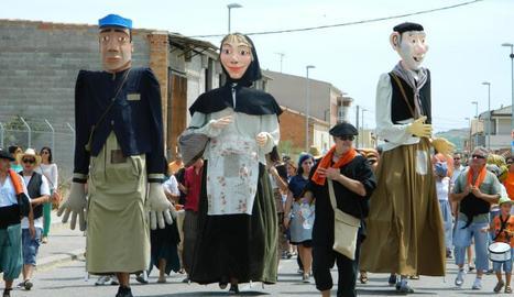 Els gegants Roc i Vicenta es van crear especialment per a aquesta celebració.