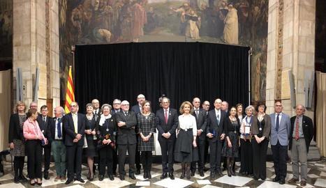 El president Quim Torra va presidir ahir l'entrega de les medalles a Barcelona.