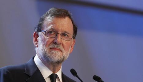 Imatges de Mariano Rajoy, Roger Torrent i Iñigo Urkullu.