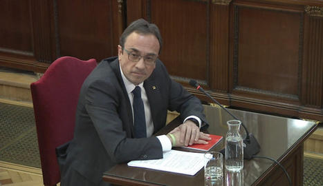 Josep Rull durant la seua declaració al Suprem