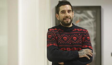 Zigor Samaniego, que ahir va ser el protagonista del cicle 'Trobades amb...' del CaixaForum.