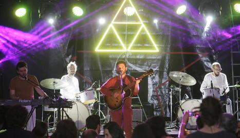 Joan Pons El Petit de Cal Eril, el mes de juny passat en un concert a Sudanell.