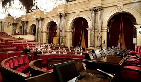Diputats de Cs, ahir al Parlament de Catalunya.