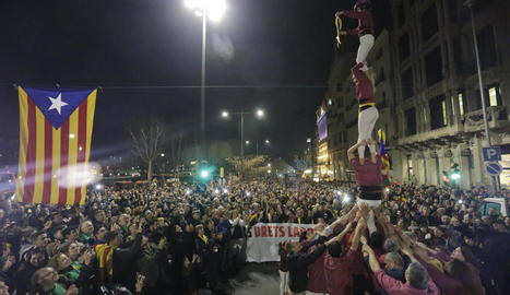 La manifestació a la tarda a Lleida ciutat, una de les més concorregudes que es recorden.