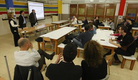 Gavín va presentar ahir el projecte als pares de l'Escola Alba.