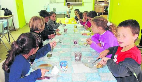 Imatge del menjador escolar de Vilaller.