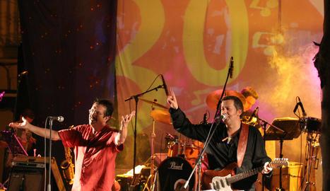 Salvador Escribà i Txabi Àbrego, membres de la banda.