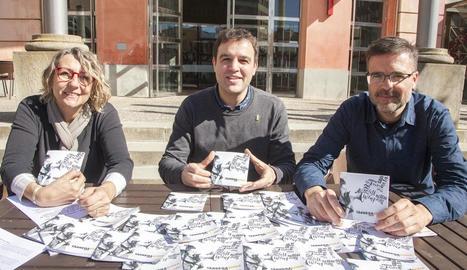 Teresa Garcia, Oriol Martí i Raül Palacios, a la presentació.
