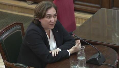 Ada Colau, compareixent al Suprem