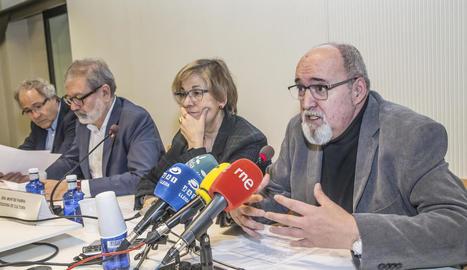 Balasch, Larrosa, Parra i Ferrer, ahir a la regidoria de Cultura.