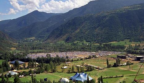 El recinte d'Escalarre durant la primera edició del festival, que es va celebrar el 1996.