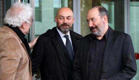 Gordillo i Sanchis, ahir, després de declarar per un presumpte delicte de desobediència.