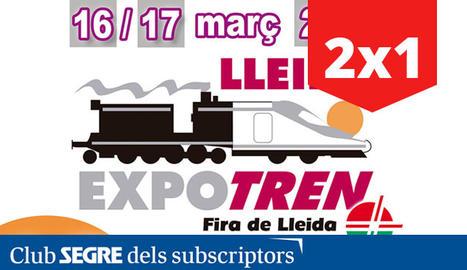 El cartell de la desena edició de la fira Expo Tren, a Fira de Lleida.
