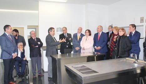 El president Quim Torra inaugura la Unitat Quirurgica Docent dels Serveis Hospitalaris Veterinaris de la UdL