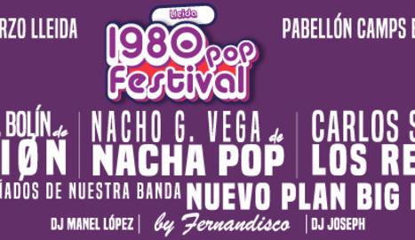 El cartell del concert 1980 Pop Festival que es celebrarà el 9 de març a Lleida.
